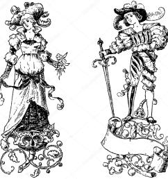 clipart vintage princess and prince vector file is an eps 10 file vector editing features are only available with the eps file watermarks are removed from  [ 1024 x 1024 Pixel ]