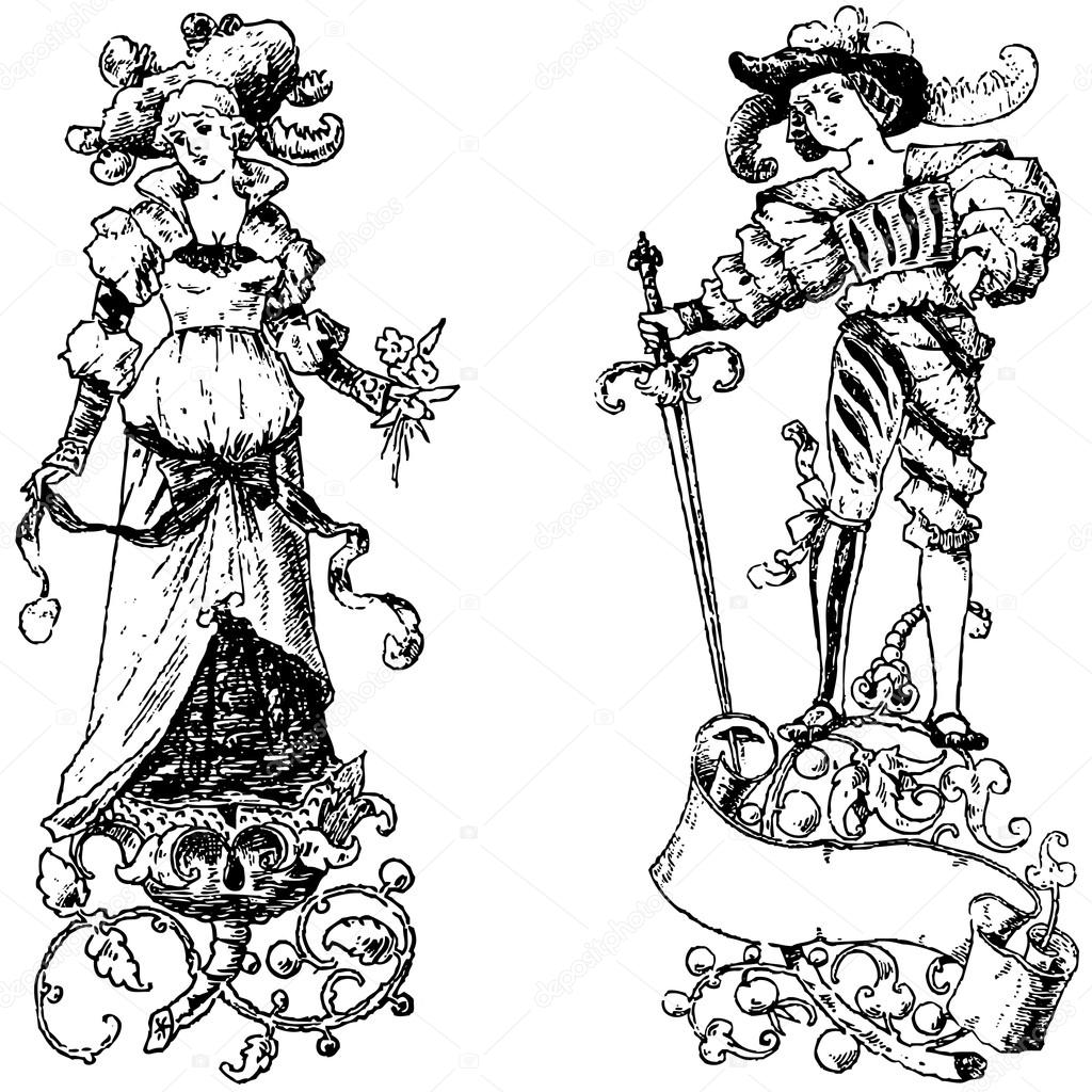 hight resolution of clipart vintage princess and prince vector file is an eps 10 file vector editing features are only available with the eps file watermarks are removed from
