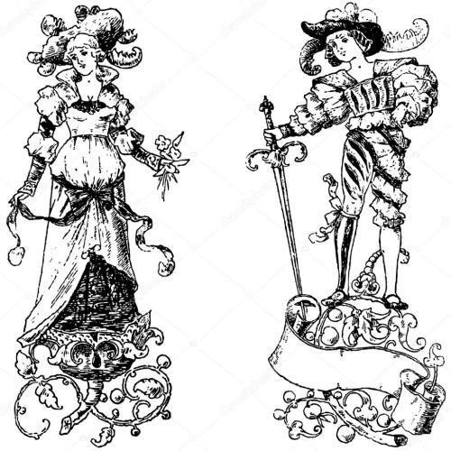 small resolution of clipart vintage princess and prince vector file is an eps 10 file vector editing features are only available with the eps file watermarks are removed from