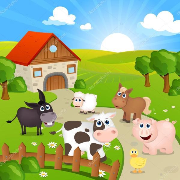 Farm House Stock Vector Ramonakaulitzki #21352901