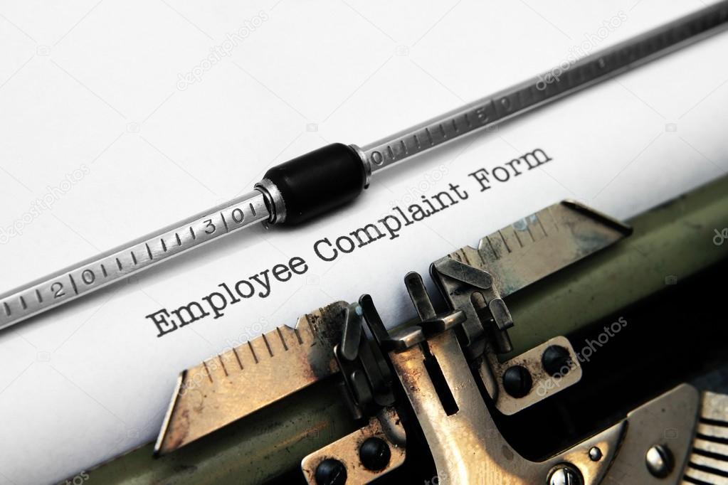 Employee complaint form — Stock Photo © alexskopje #22178057