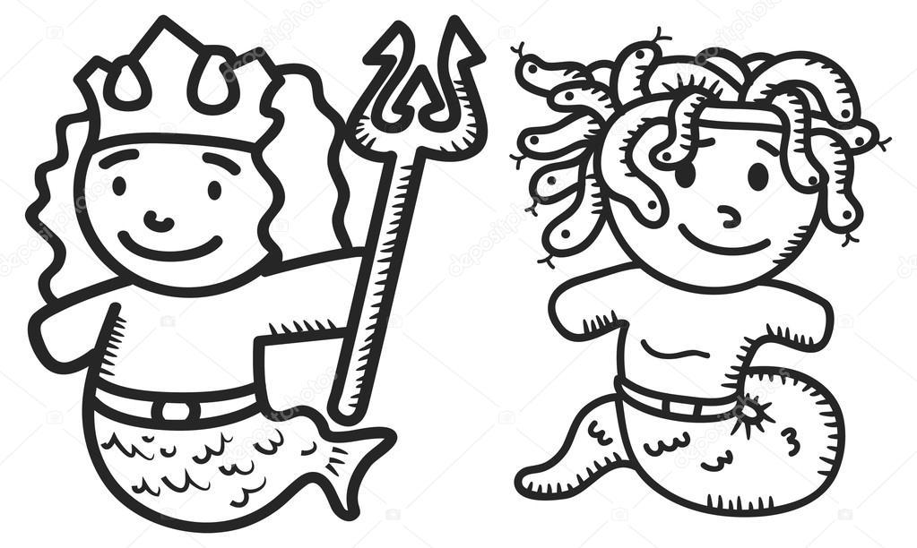 Greek mythology cartoon — Stock Vector © mhatzapa #38227461