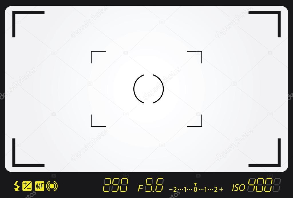 Camera viewfinder — Stock Vector © mtkang #23057342