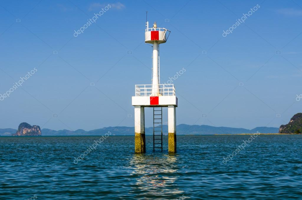 A Small Lighthouse In The Strait At The Pier Ao Nang Krabi