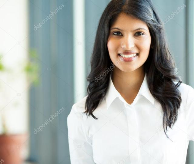 Indian White Collar Worker In Office Stock Photo