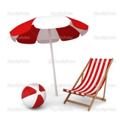 Small Ball Chair Sash Buckles Bola Silla Y Sombrilla De Playa  Foto Stock Montego