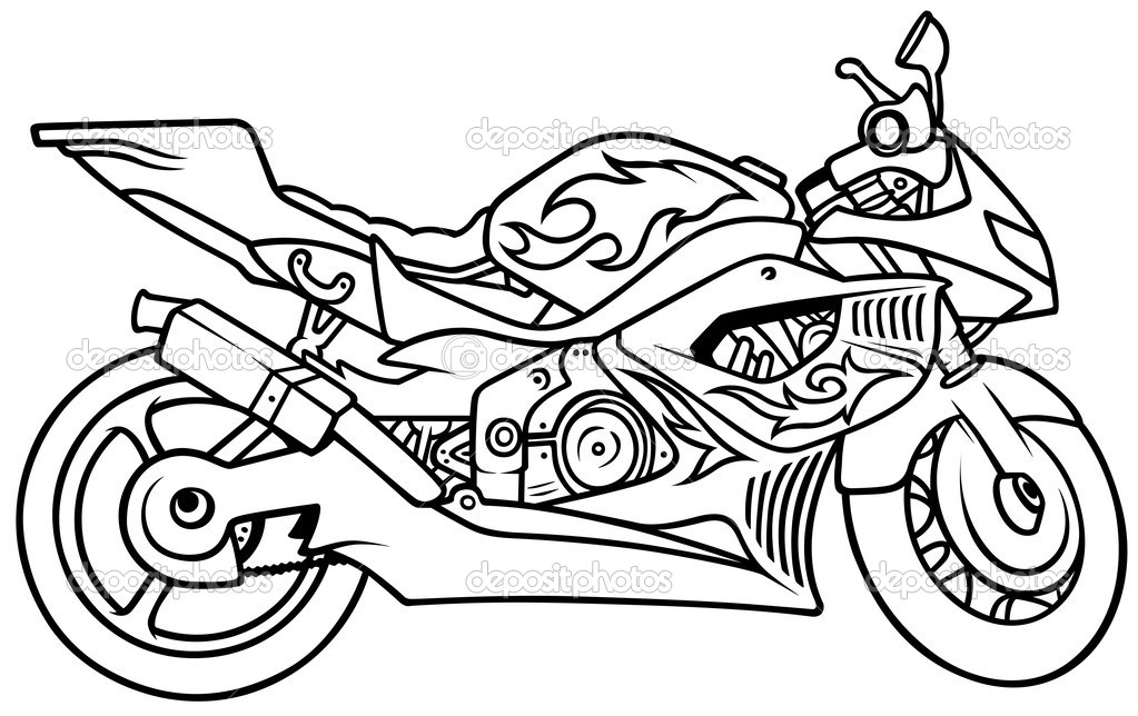 Букингемский дворец раскраска. Мотоцикл — Векторное