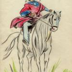 Indian Horse Drawing American Indian On Horse Stock Photo C Galadon 20794697