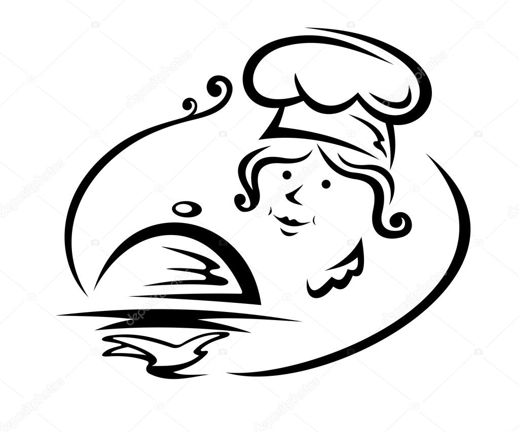 Woman Chef With Tray