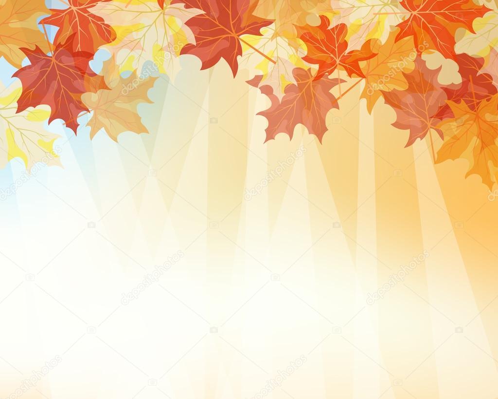 Fall Leaves Falling Wallpaper Fundo Outono Vetor De Stock 169 Angelp 12181278