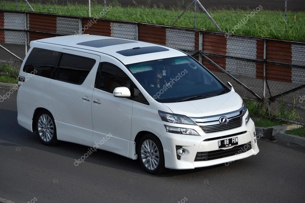 all new alphard bandung grand avanza tipe e abs white colored toyota vellfire stock editorial photo c bluemarine indonesia june 16 2014 cruising on the road by
