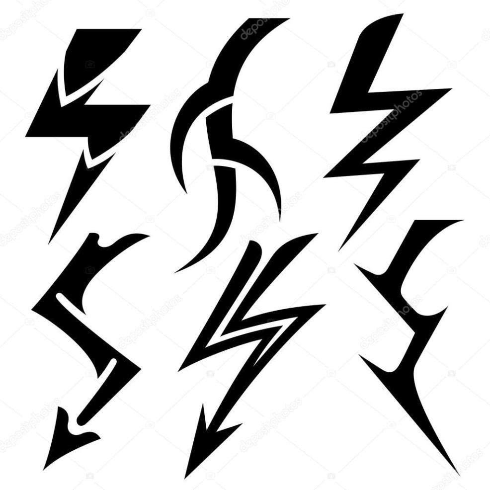 молния татуировки векторное изображение Alisher 14129589