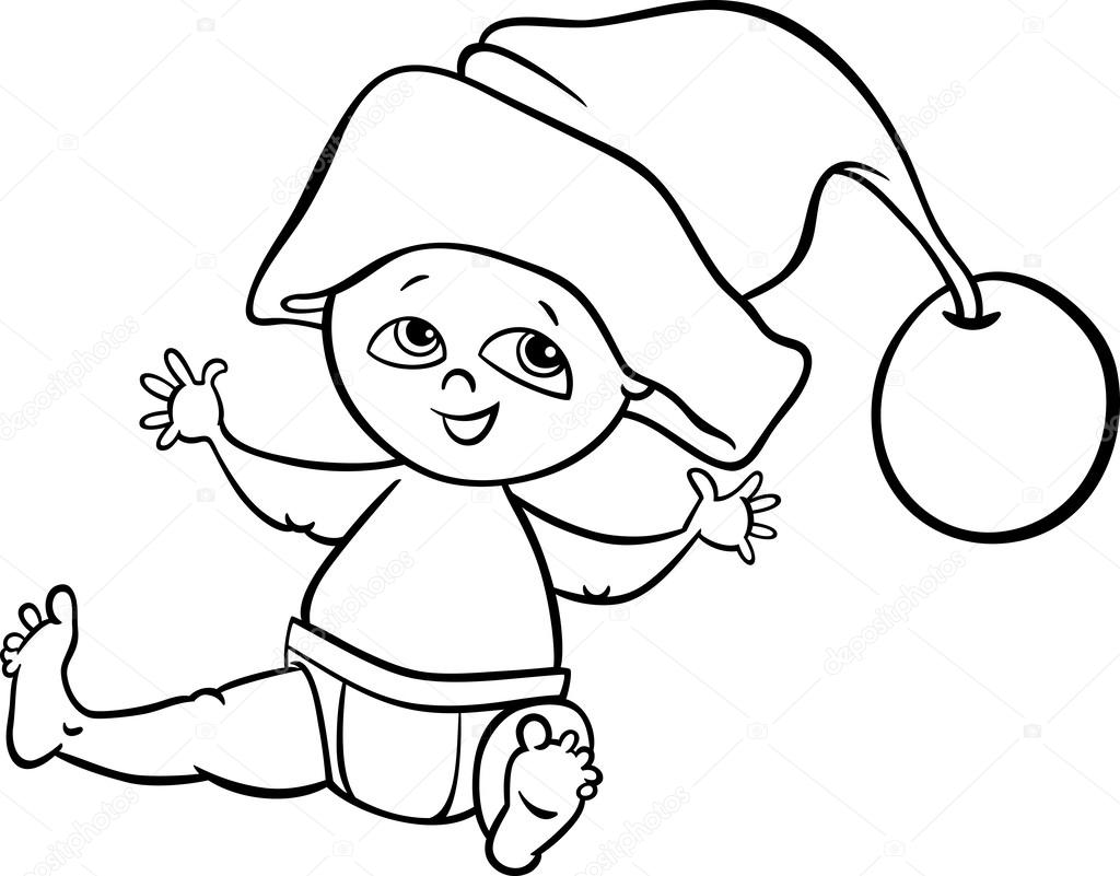 Pagina da colorare dei cartoni animati santa ragazzo del