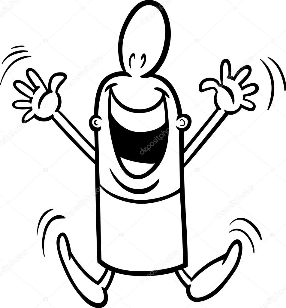 Excited guy coloring page — Stock Vector © izakowski #42567909