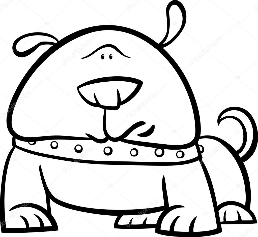 Dog Collar Coloring Pages Chain Slip Pitbull Sketch