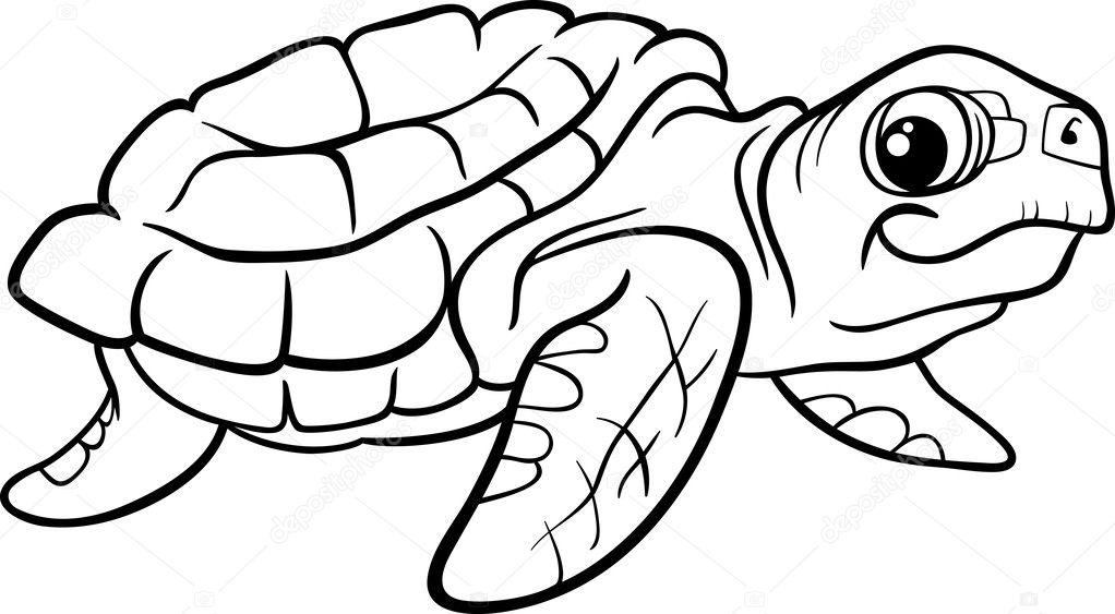 Sea turtle coloring book — Stock Vector © izakowski #46742275