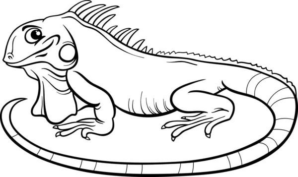iguana cartoon coloring book — Stock Vector © izakowski