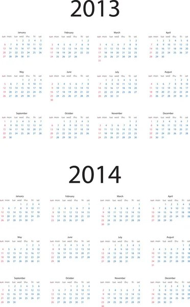 2013-2014 calendar — Stock Vector © AlexCiopata #12589874