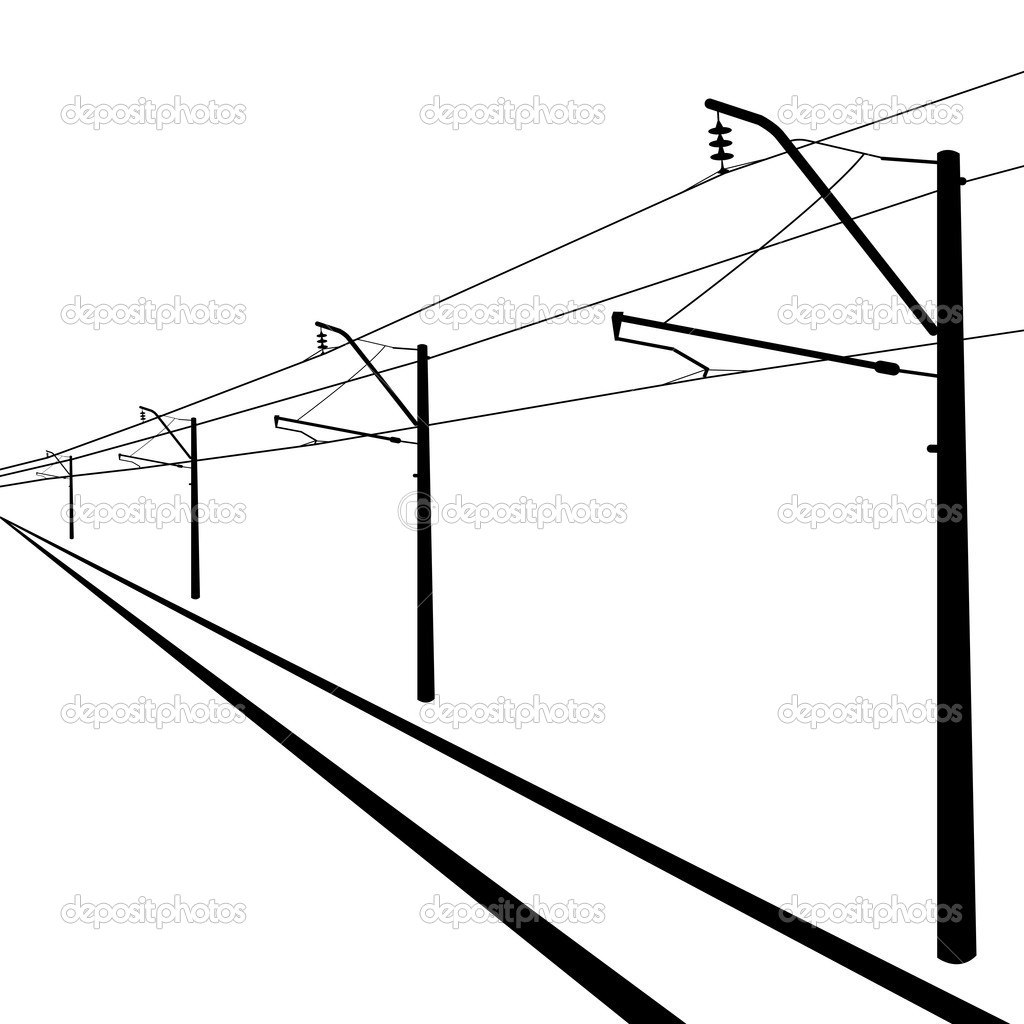 Railroad Overhead Lines Contact Wire Illustration