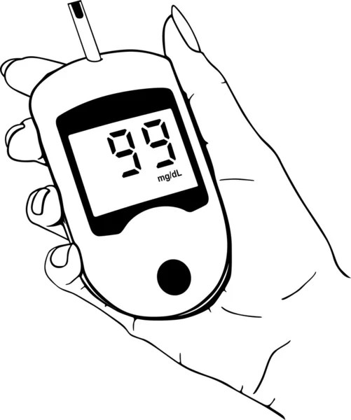 Blood glucose monitoring Stock Vectors, Royalty Free Blood
