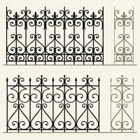 Railings and fences  Stock Vector  Den.Barbulat #18237247