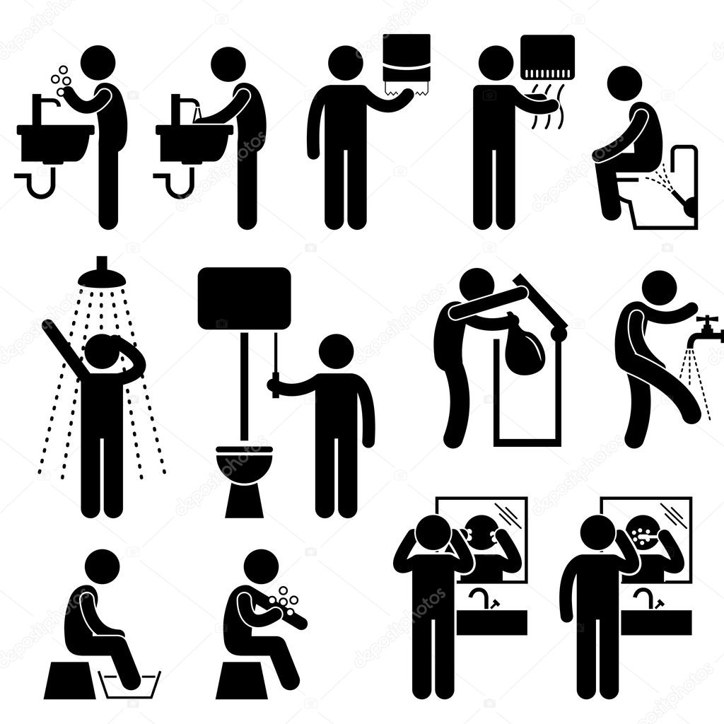 Personal Hygiene Washing Hand Face Shower Bath Brushing