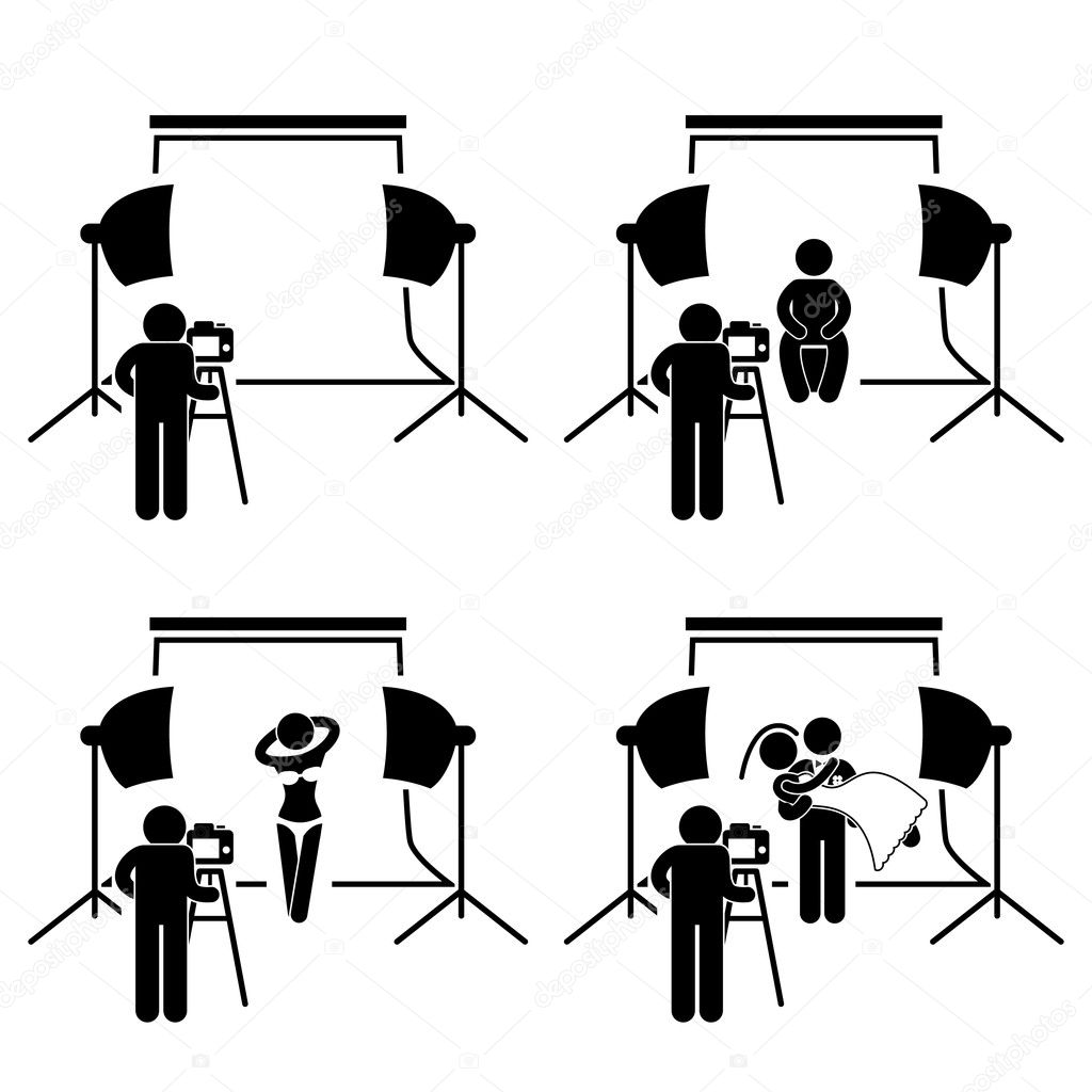 Photographer Studio Photography Shoot Stick Figure