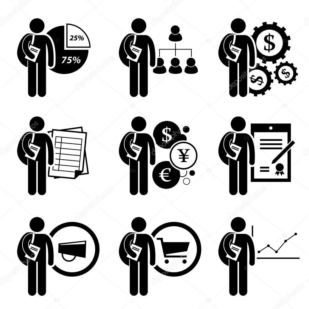 학생도 비즈니스 관리-분석, 인적 자원, 금융 공학, 회계, 화폐, 법률, 마케팅, 상거래, 경제-스틱