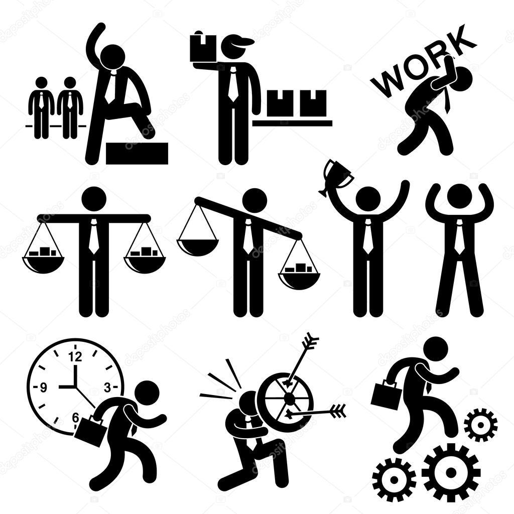 Business People Businessman Concept Stick Figure Pictogram