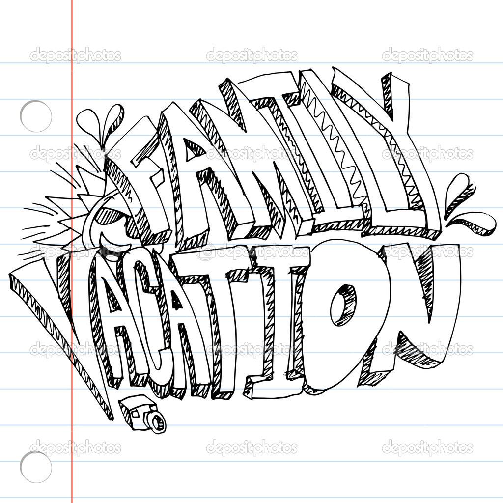 Family Vacation Drawing