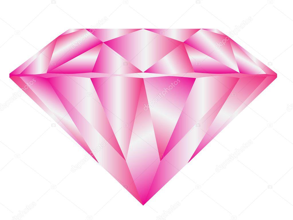 vector diamante rosa patrón