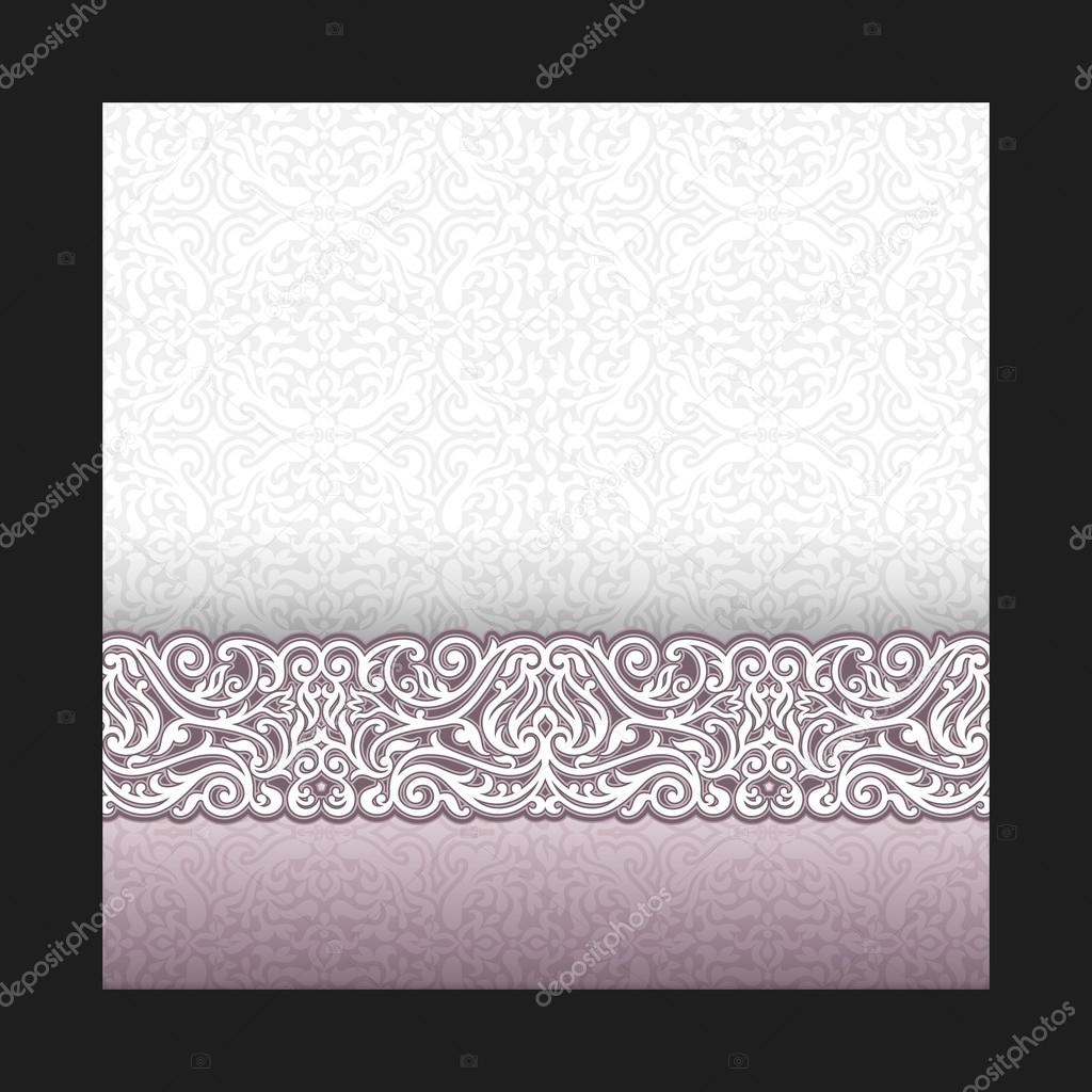 vintage background wedding invitation card royal greeting with lace and floral ornament beautiful elegant luxury postcard vector image by c meginn vector stock 46685963