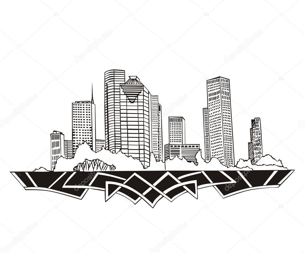 Houston, TX Skyline — Stock Vector © rorius #18778245