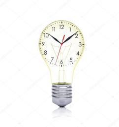 clock face inside the bulb stock photo [ 1024 x 1024 Pixel ]