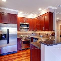 Kitchen Back Splash Moen Pull Down Faucet 在现代公寓厨房室内 图库照片 C Iriana88w 49040791 勃艮第的厨房 瓷砖背飞溅修剪 钢电器和硬木地板 照片作者iriana88w