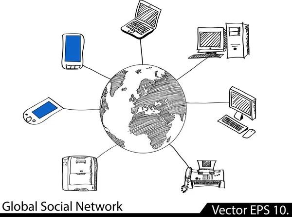 LAN Network Diagram — Stock Vector © ohmega1982 #49511103