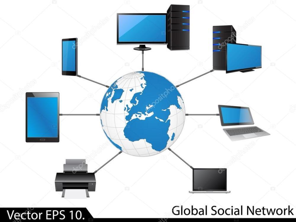 medium resolution of lan network diagram stock vector