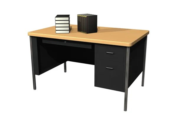 round black kitchen table sherwin williams paint for cabinets 办公室的桌上设备和白色背景上的黑色椅子 — 图库照片©viperagp#72226715