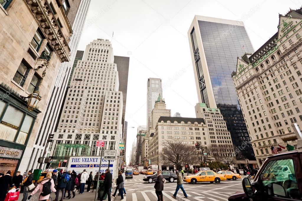 Central Park And Plaza Hotel Ib New York City Stock