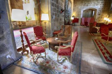 Medieval style living room Luxurious living room of medieval castle Stock Photo © James633 #38608643