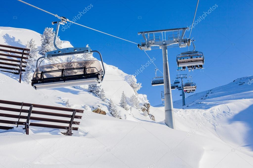 buy ski lift chair steel transport chairs stock photo c mac sim 13652616