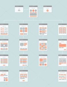 Flat design style modern vector illustration concept of abstract website flowchart sitemap connecting with arrows which describes  working algorithm and also  stock bloomua rh depositphotos