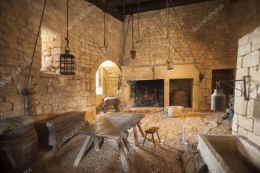 Medieval castle kitchens Medieval kitchen Stock Editorial Photo © Sonar #13833263