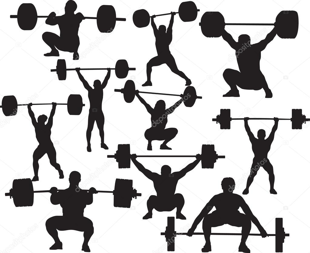 Vector weightlifter silhouette — Stock Vector © Timka