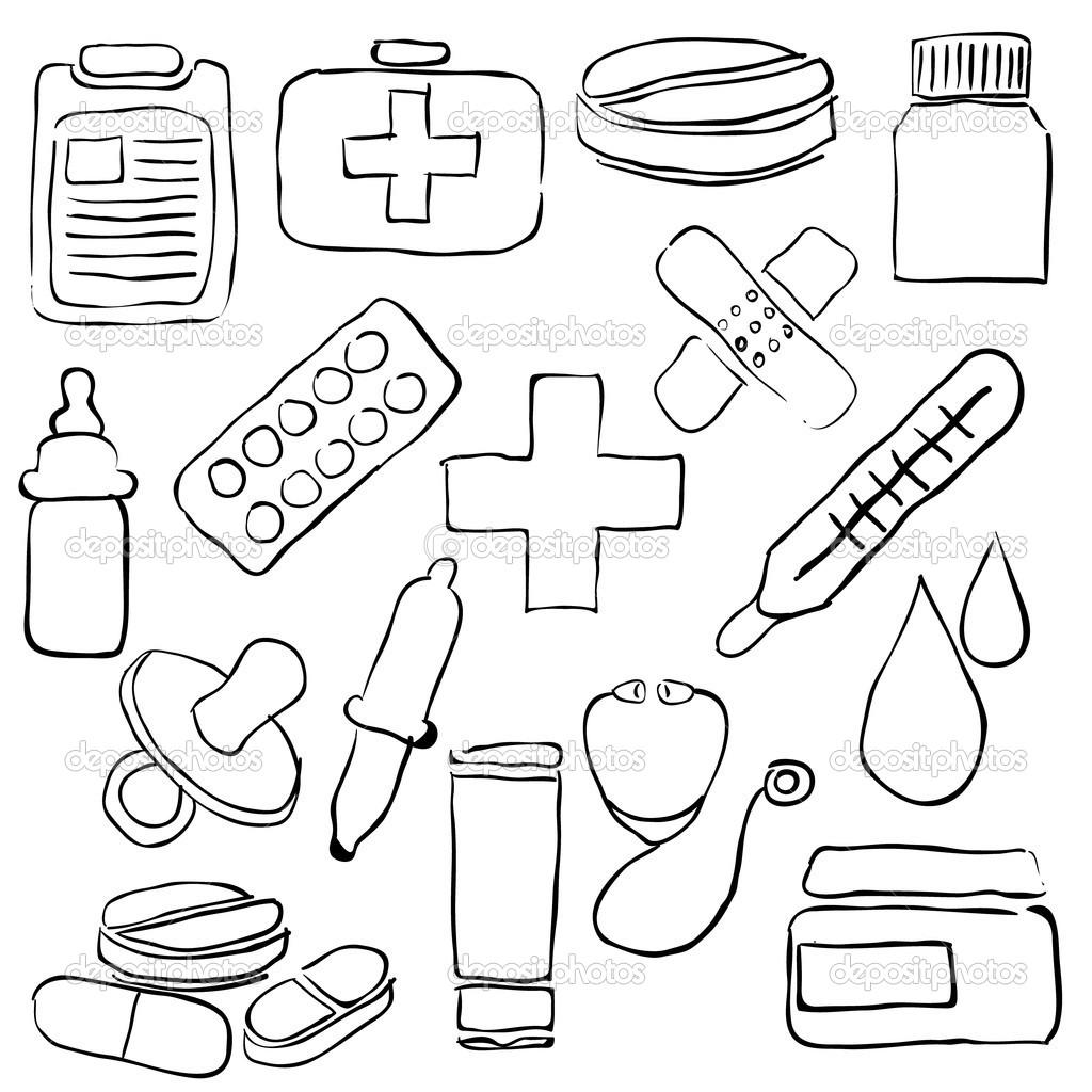 pharmacy sketch images — Stock Vector © glorcza #25997013