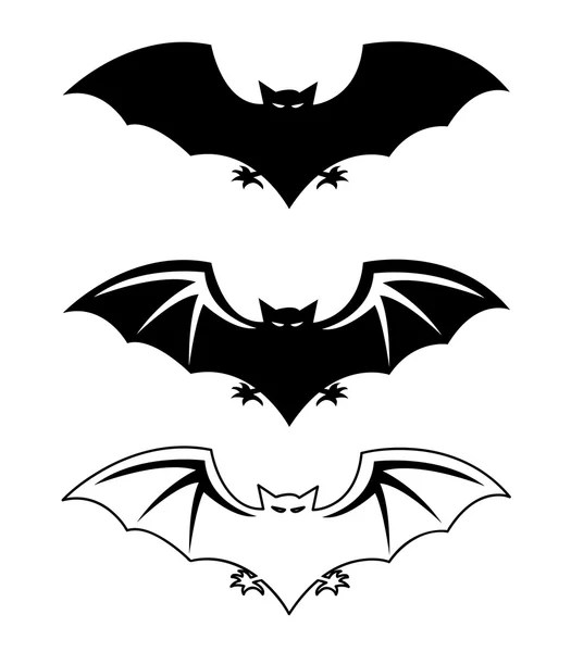 Silhouette of bat (flight of a bat) — Stock Vector