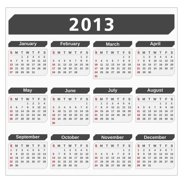 2013 Calendar — Stock Vector © human_306 #12355779
