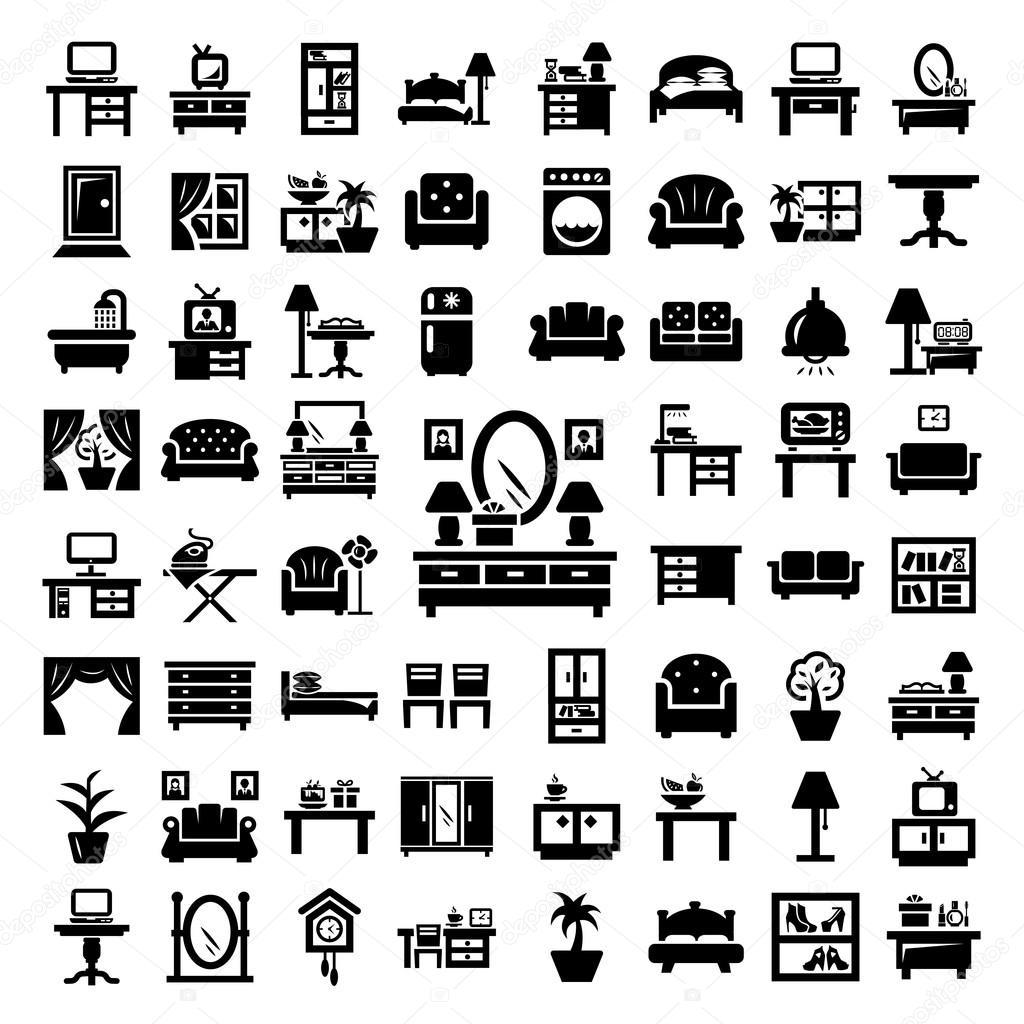 Big Furniture Icons Set