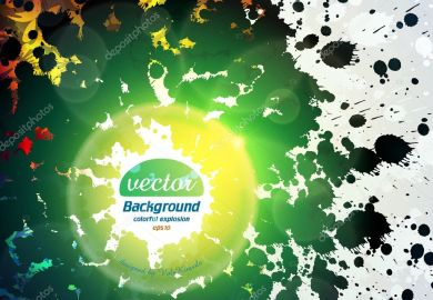 Colorful Abstract Background Vector Illustration Stock Image