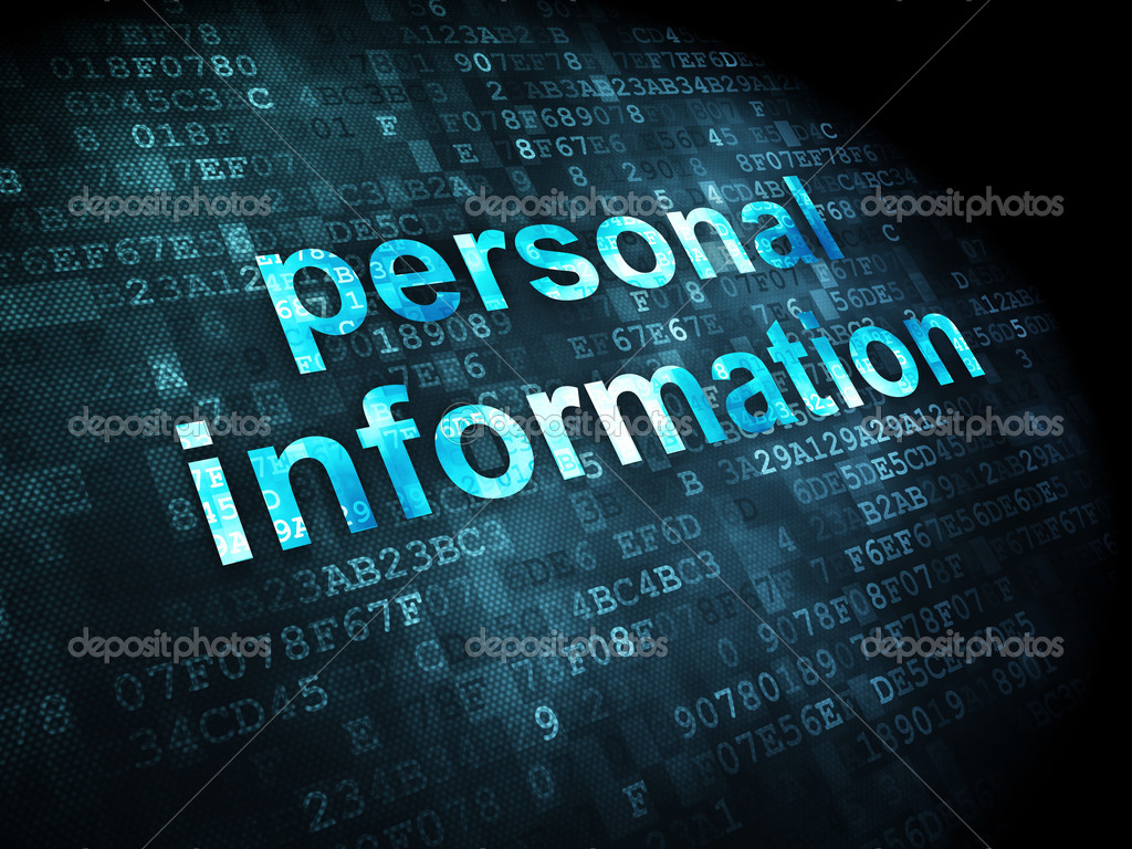 Safety Concept Personal Information On Digital Background